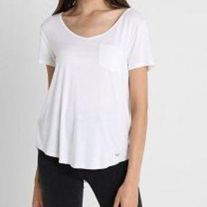 Hollister Plain white pocket T-shirt